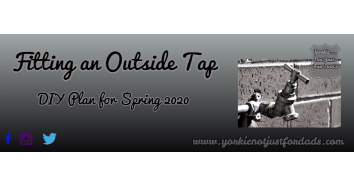 Featured image for my post fitting an outside tap