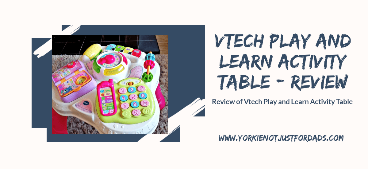 Featured image for the post vtech play & learn activity table review