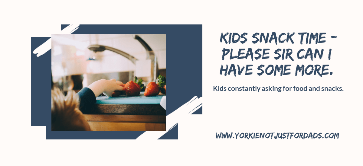 Featured image for the post kids snack time - please sir can I have some more