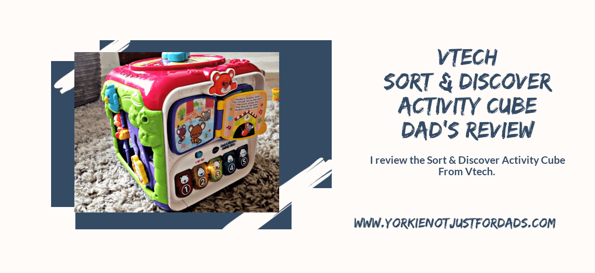 Featured image for the post vtech sort & discover activity cube dad's review