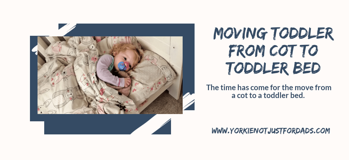 Featured image for the post moving toddler from cot to toddler bed