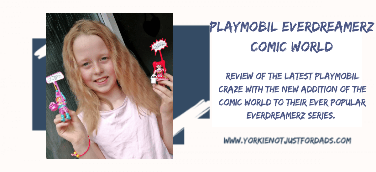 Featured image for my review post for Playmobil EverDreamerz Comic World Sets.